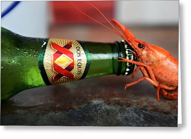 Crawfish Beer Greeting Cards - Cat5crawfish030812 Greeting Card by Tammy McKinley