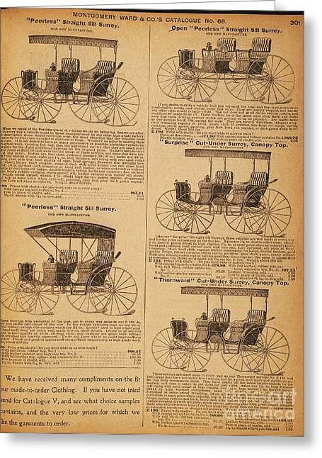 Catalog Greeting Cards - CATALOG PAGE, c1900 Greeting Card by Granger