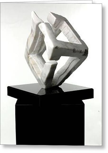 Cubist Sculptures Greeting Cards - Catalyst Greeting Card by Edward Heim