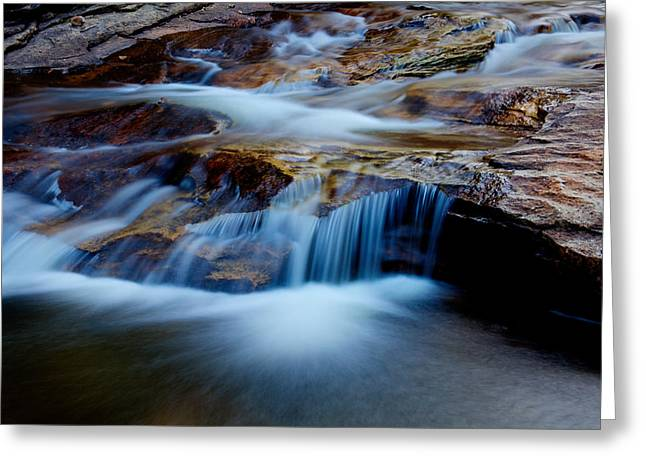 Hike Greeting Cards - Cataract Falls Greeting Card by Chad Dutson