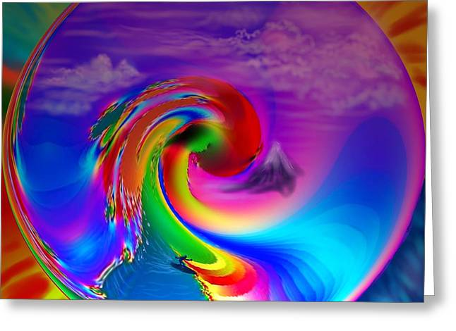 Man On A Surf Board Greeting Cards - Catch a tasty wave Greeting Card by Kevin Caudill