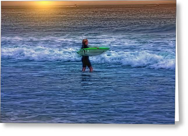 CATCH A WAVE Greeting Card by Tom York Images
