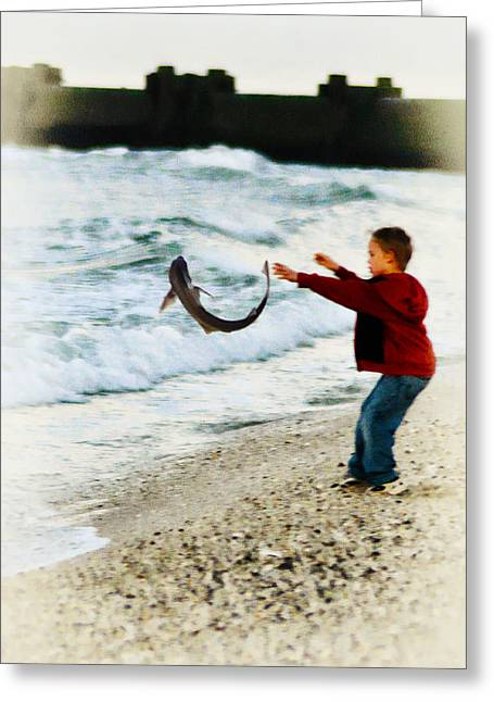 Catch And Release Greeting Cards - Catch and Release Greeting Card by Bill Cannon