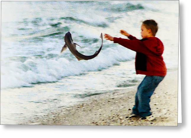 Catch and Release Greeting Card by Bill Cannon
