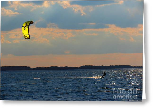 Kite Boarding Greeting Cards - Catch the Wind Greeting Card by Rrrose Pix