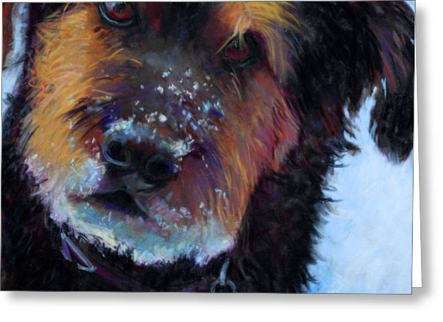 Catching Snowballs Greeting Card by Billie Colson