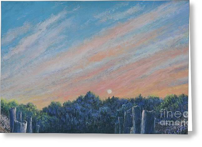 Set Pastels Greeting Cards - Catching the SunSet Greeting Card by Penny Neimiller