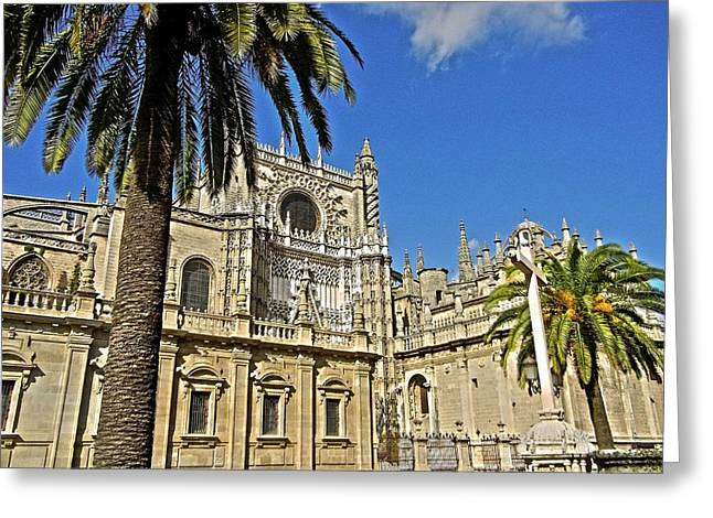 Himmel Greeting Cards - Catedral de Santa Maria de la Sede - Sevilla Greeting Card by Juergen Weiss