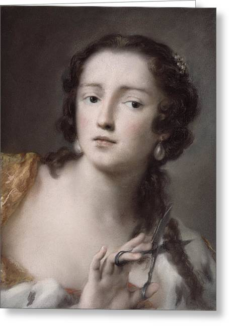 Caterina Sagredo Barbarigo As 'bernice' Greeting Card by Rosalba Giovanna Carriera