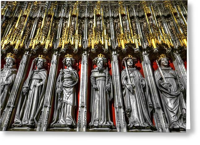 Soaring Tower Greeting Cards - Cathedral Architecture 03 Greeting Card by Svetlana Sewell