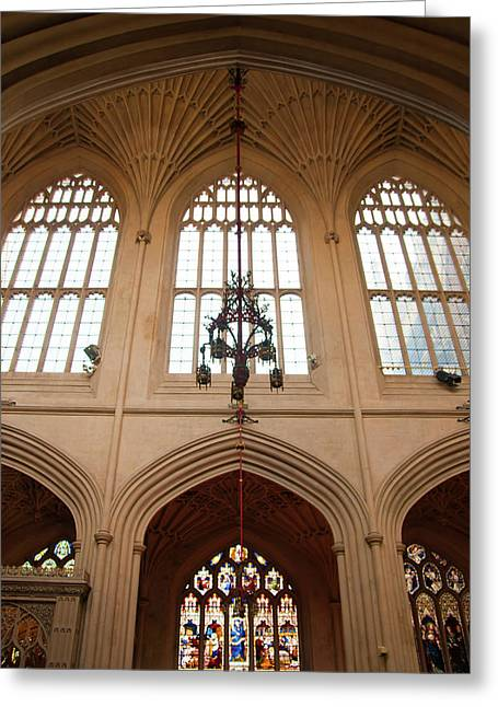 Soaring Tower Greeting Cards - Cathedral Architecture  Greeting Card by Svetlana Sewell