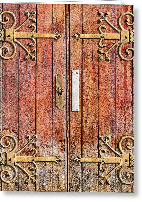 Brown Locks Greeting Cards - Cathedral Doors Greeting Card by Paul Wear