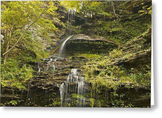 Cane Creek Greeting Cards - Cathedral Falls 3235 Greeting Card by Michael Peychich