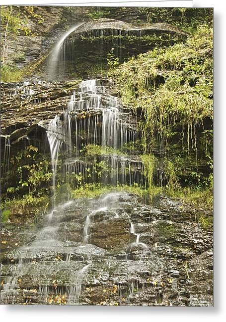 Cathedral Falls 3249 Greeting Card by Michael Peychich