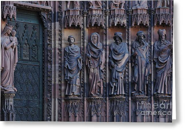 Catherdral Greeting Cards - Cathedral In Strasbourg Details Greeting Card by Bob Christopher