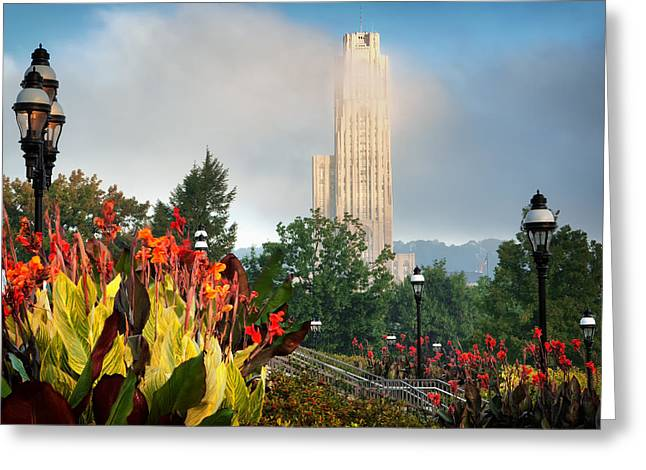 Cathedral Of Learning Greeting Cards - Cathedral of learning 2 Greeting Card by Emmanuel Panagiotakis