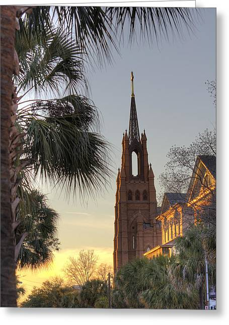 Cathedral Greeting Cards - Cathedral of Saint John the Baptist Charleston Greeting Card by Dustin K Ryan