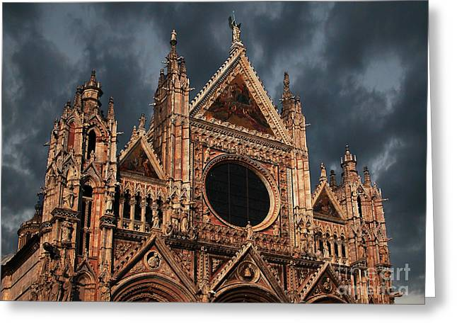 Siena Italy Greeting Cards - Cathedral of Siena Greeting Card by Jim Wright