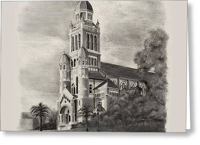 Cathedral of St John the Evangelist Greeting Card by Ron Landry