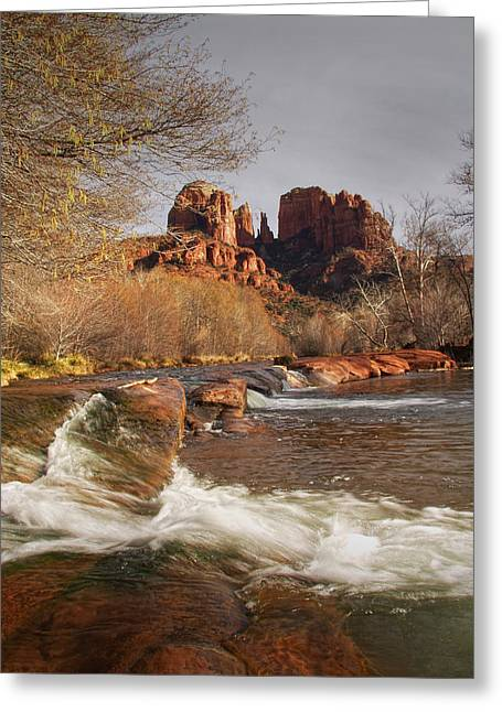 Cathedral Rock Greeting Cards - Cathedral Rock in Sedona Arizona Greeting Card by Randall Nyhof
