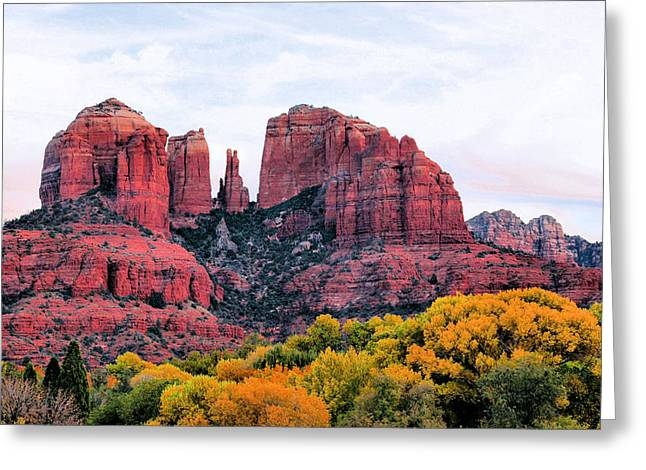 Cathedral Rock Greeting Cards - Cathedral Rock Greeting Card by Kristin Elmquist