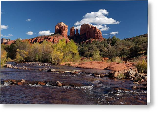 Red Rock Crossing Photographs Greeting Cards - Cathedral Rock Sedona Greeting Card by Joshua House