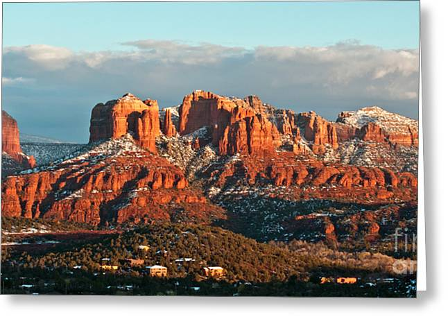 Cathedral Rock Greeting Cards - Cathedral Rocks Vista Greeting Card by Jim Chamberlain