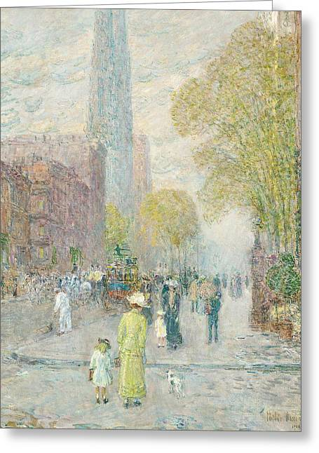 Cathedral Greeting Cards - Cathedral Spires Greeting Card by Childe Hassam