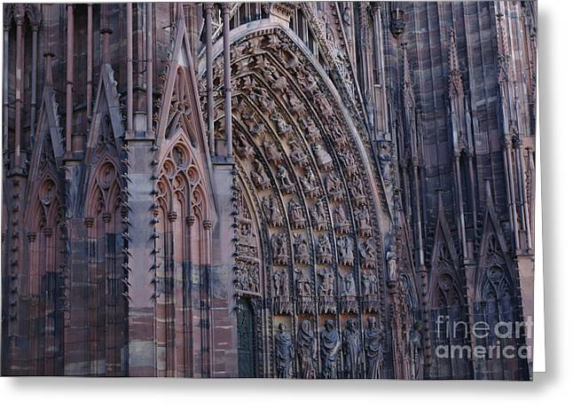 Catherdral Greeting Cards - Catherdral In Strasbourg Germany Greeting Card by Bob Christopher