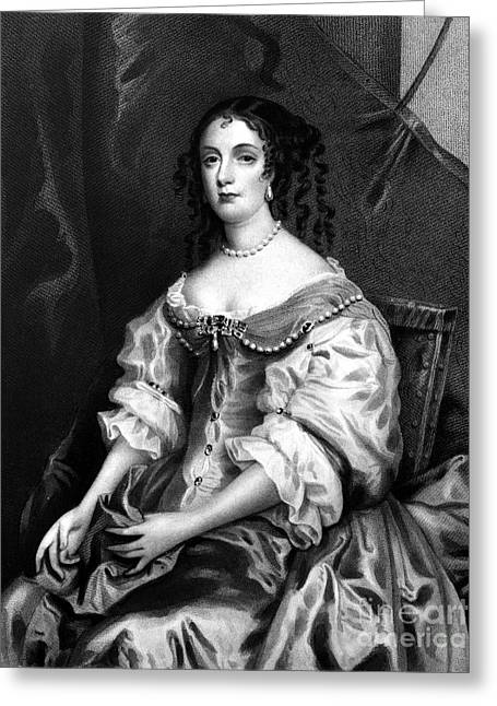 Decolletage Greeting Cards - Catherine Of Braganza Greeting Card by Granger