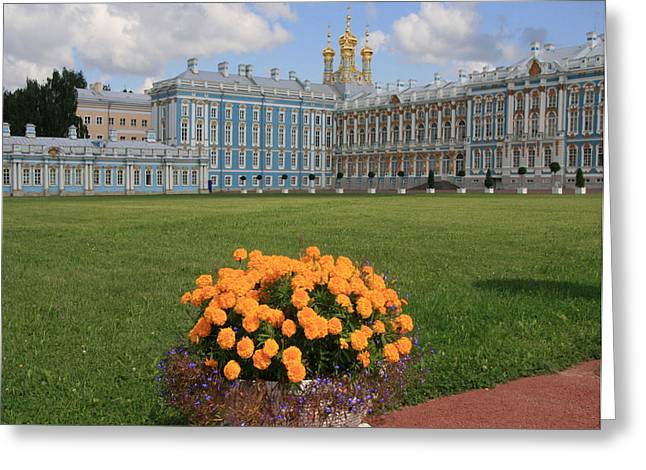 Catherine White Photographs Greeting Cards - Catherine Palace in Russia Greeting Card by Sharon Kalniz