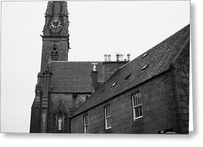 catholic cathedral of st mary of the assumption aberdeen scotland uk Greeting Card by Joe Fox