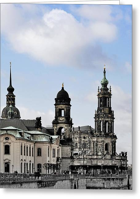 Onion Greeting Cards - Catholic Church of the Royal Court - Hofkirche Dresden Greeting Card by Christine Till