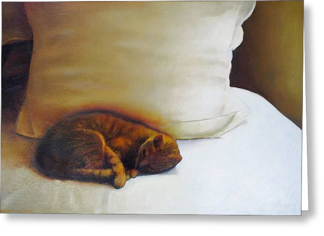 Sizes Greeting Cards - Catnap Greeting Card by Cap Pannell