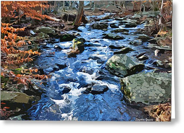 Catoctin Stream Greeting Card by Stephen Younts