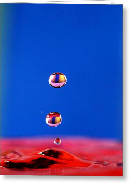 Water Drops Photographs Greeting Cards - Cats eye Water drops Greeting Card by Paul Ge