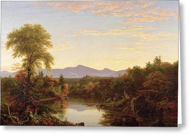 Cole Paintings Greeting Cards - Catskill Creek - New York Greeting Card by Thomas Cole