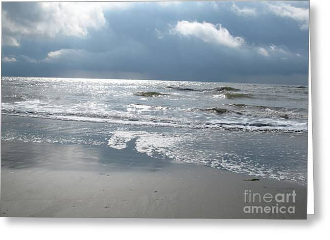 Sun Breaking Through Clouds Greeting Cards - Caught a Wave Greeting Card by B Rossitto