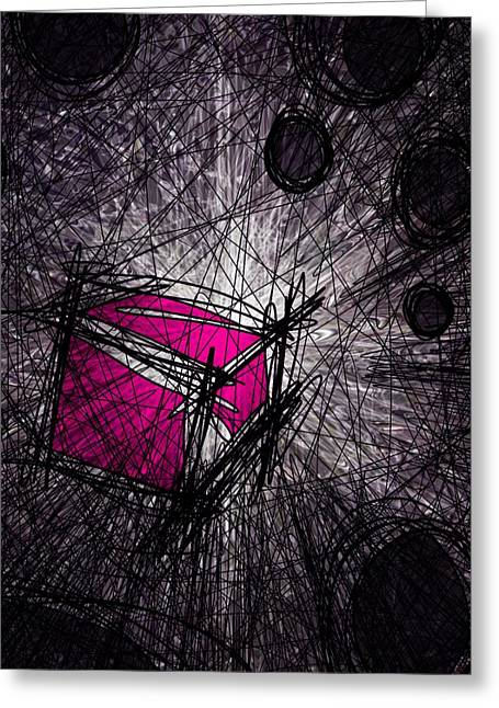 Destiny Greeting Cards - Caught in a web Greeting Card by Rachel Christine Nowicki