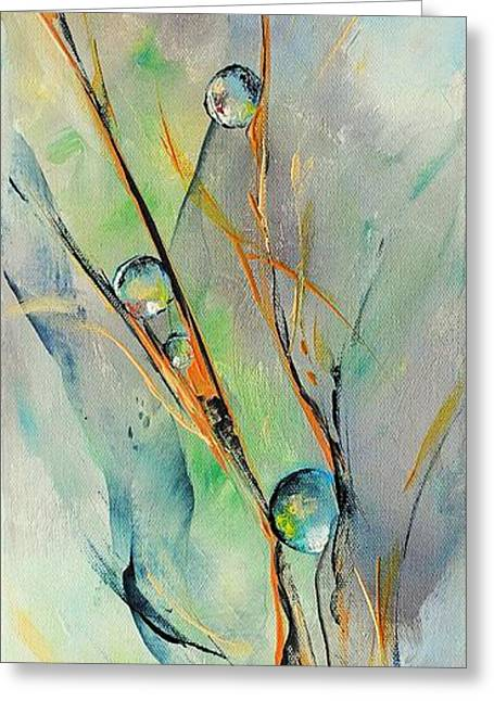 Nature Abstracts Greeting Cards - Cavale Greeting Card by Francoise Dugourd-Caput