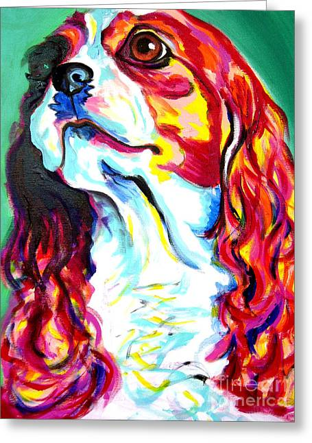 Bred Greeting Cards - Cavalier - Herald Greeting Card by Alicia VanNoy Call