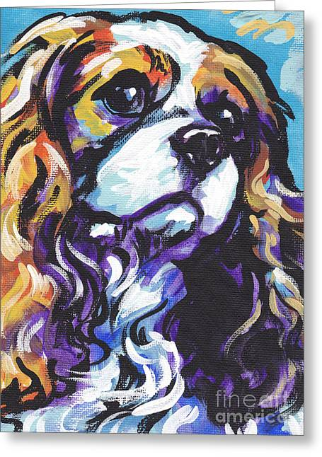 Spaniel Greeting Cards - Cavalier King Charles Spaniel Greeting Card by Lea