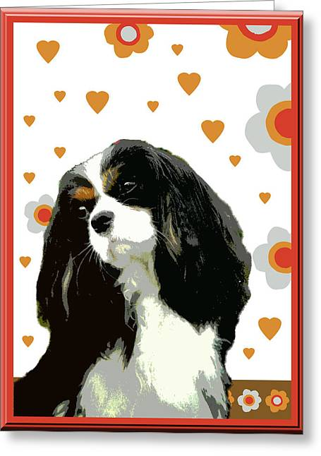 Cavalier King Charles Spaniel Greeting Card by One Rude Dawg Orcutt