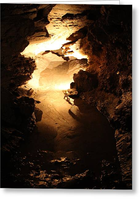 Cavern Mixed Media Greeting Cards - Cave And Cavern Greeting Card by Debra     Vatalaro