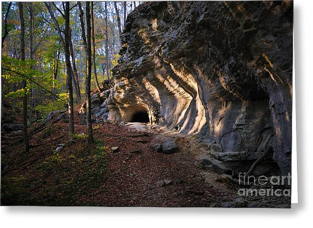 Renfro Greeting Cards - Cave Entrance Renfro Valley Greeting Card by Anne Kitzman
