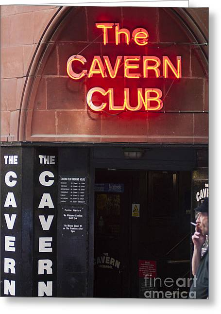 Cavern Club . Greeting Cards - Cavern Club Greeting Card by Andrew  Michael