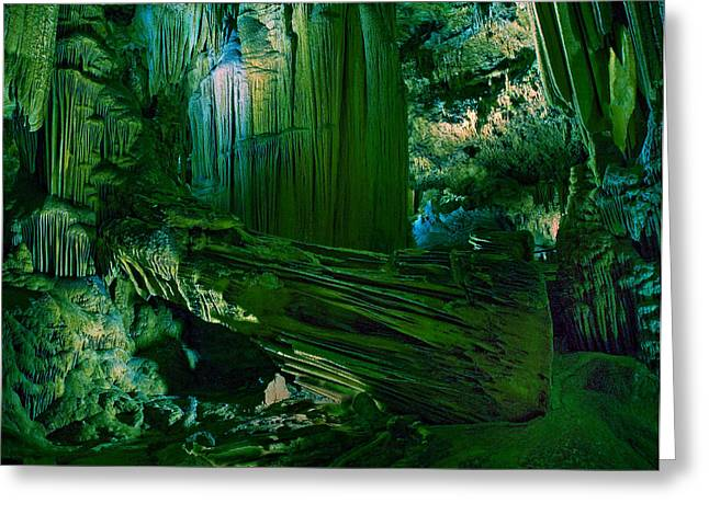 Cavern Greeting Cards - Cavern of the Green Greeting Card by Wade Aiken