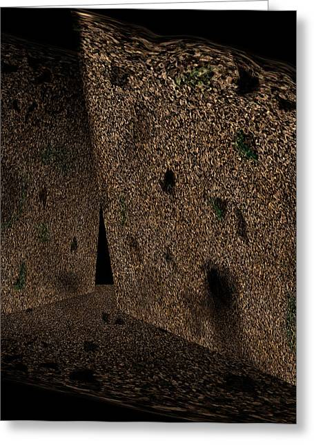 Dreamlike Greeting Cards - Cavern Walls Greeting Card by Christopher Gaston