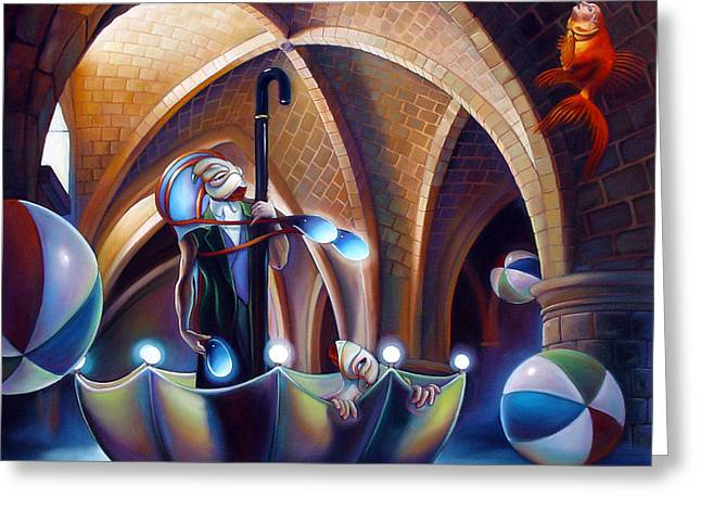 Umbrella Greeting Cards - Caverna Magica Greeting Card by Patrick Anthony Pierson