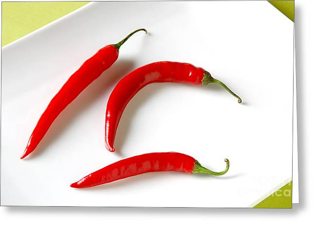 Cayenne Greeting Cards - Cayenne Peppers Greeting Card by HD Connelly